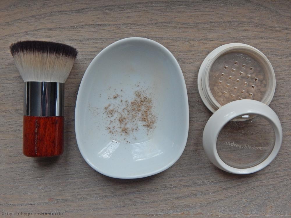 Flattop Kabuki, Porzellanschälchen und Mineral Foundation