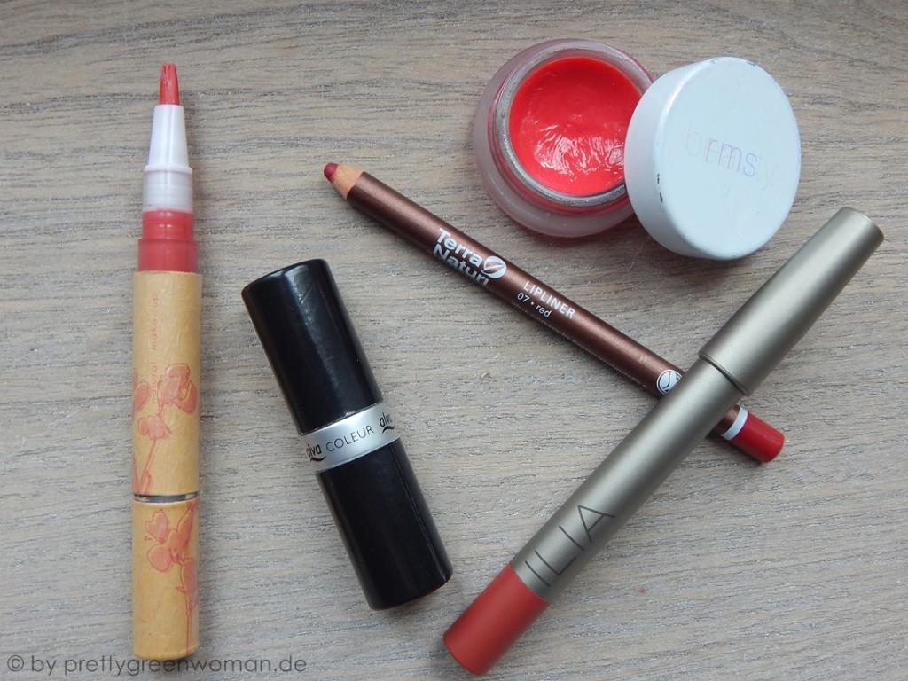 Meine fünf liebsten roten Lippenstifte