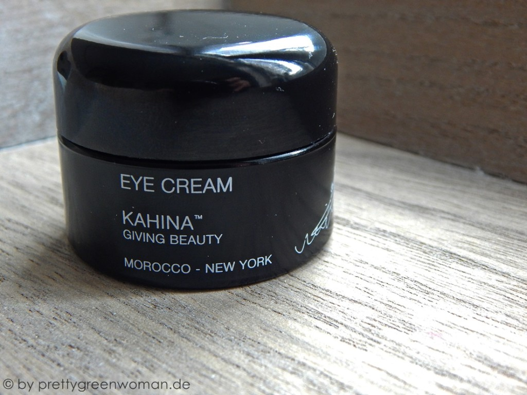 Meine morgendliche Gesichtsroutine im Herbst/ Winter 2016: Kahina Giving Beauty Eye Cream
