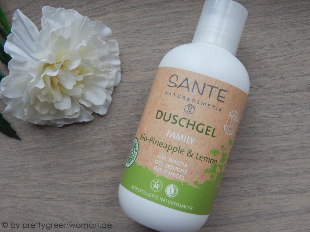 Aufgebraucht im März 2016: Das Sante Family Duschgel Bio- Pineapple & Lemon