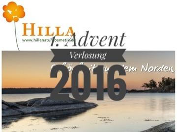 1. Adventverlosung 2016: HILLA Naturkosmetik