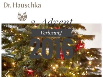 3. Advent Verlosung 2016: Dr Hauschka